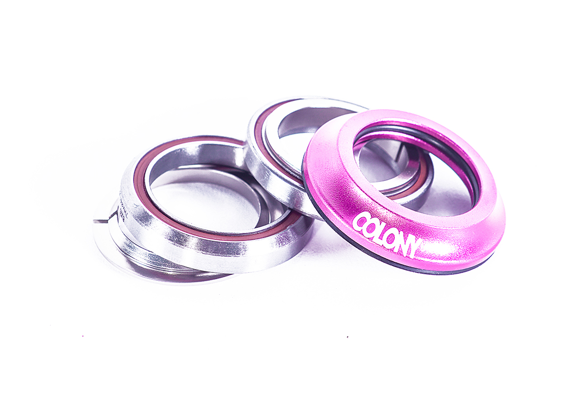Colony BMX headsets Pink