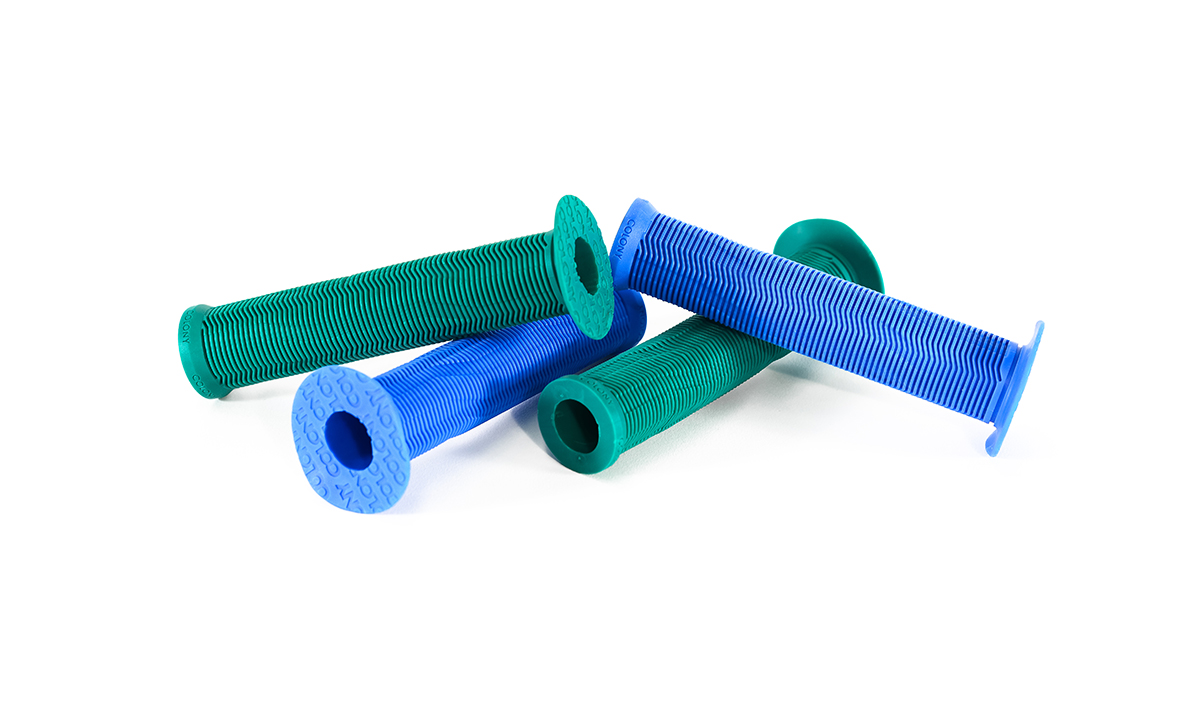 Colony Much Room BMX Grips Blue Green