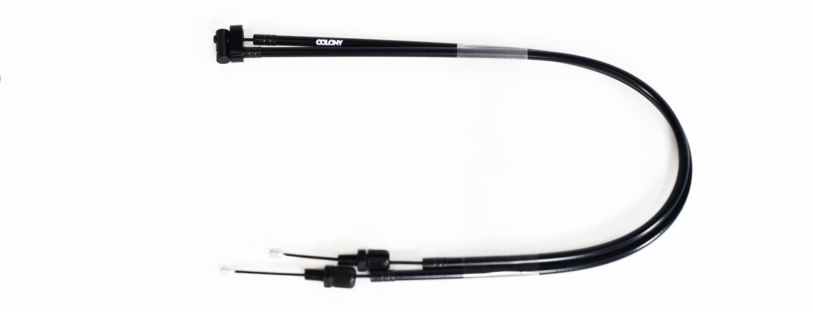 Colony BMX Upper Gyro Cables Black