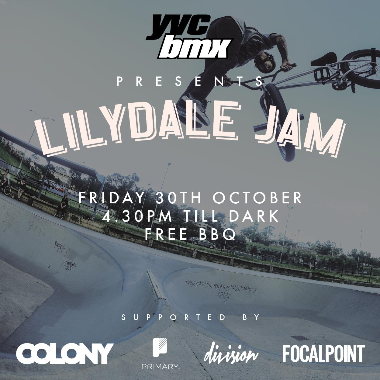lilydale jam flyer