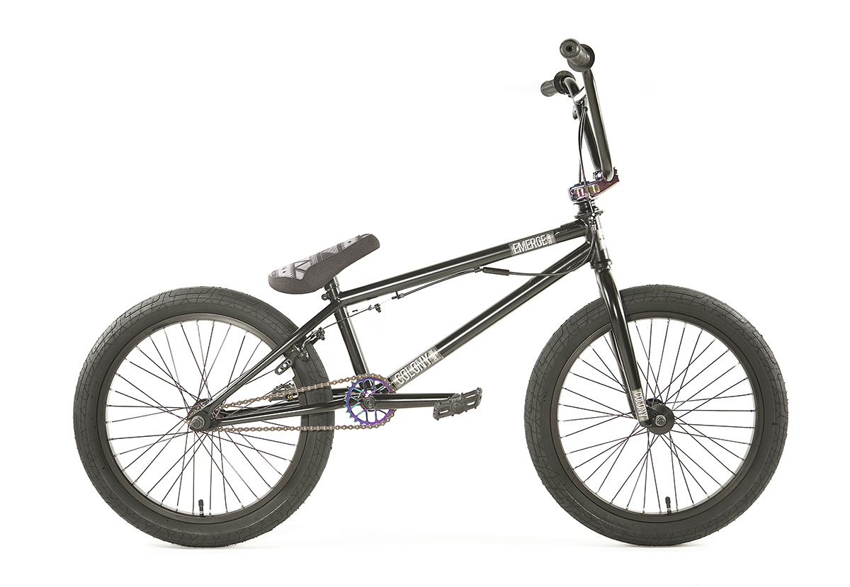 Colony BMX Emerge complete Bike Black Rainbow