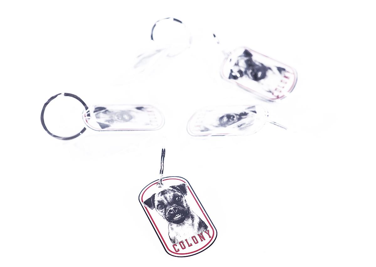 Hardy Dog Tag Keyrings