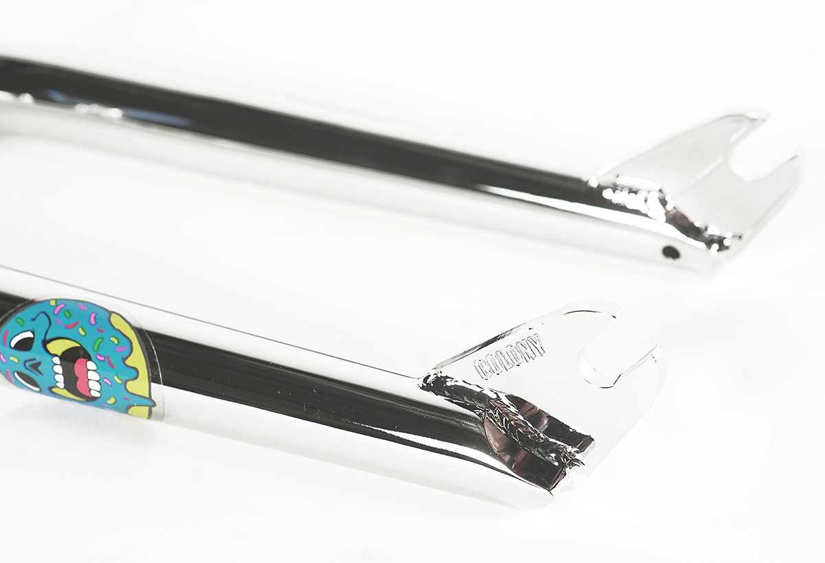 Colony BMX Sweet Tooth Forks with brake mounts chrome