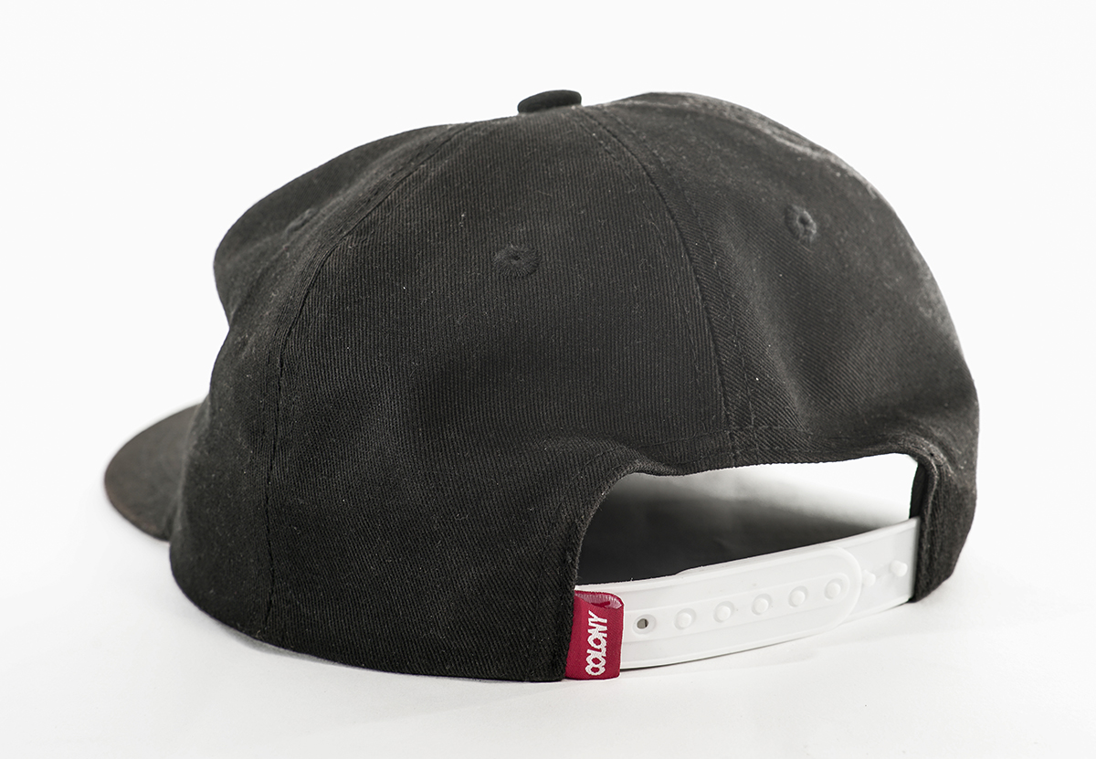 Colony Unstructured Snapback Hat Black