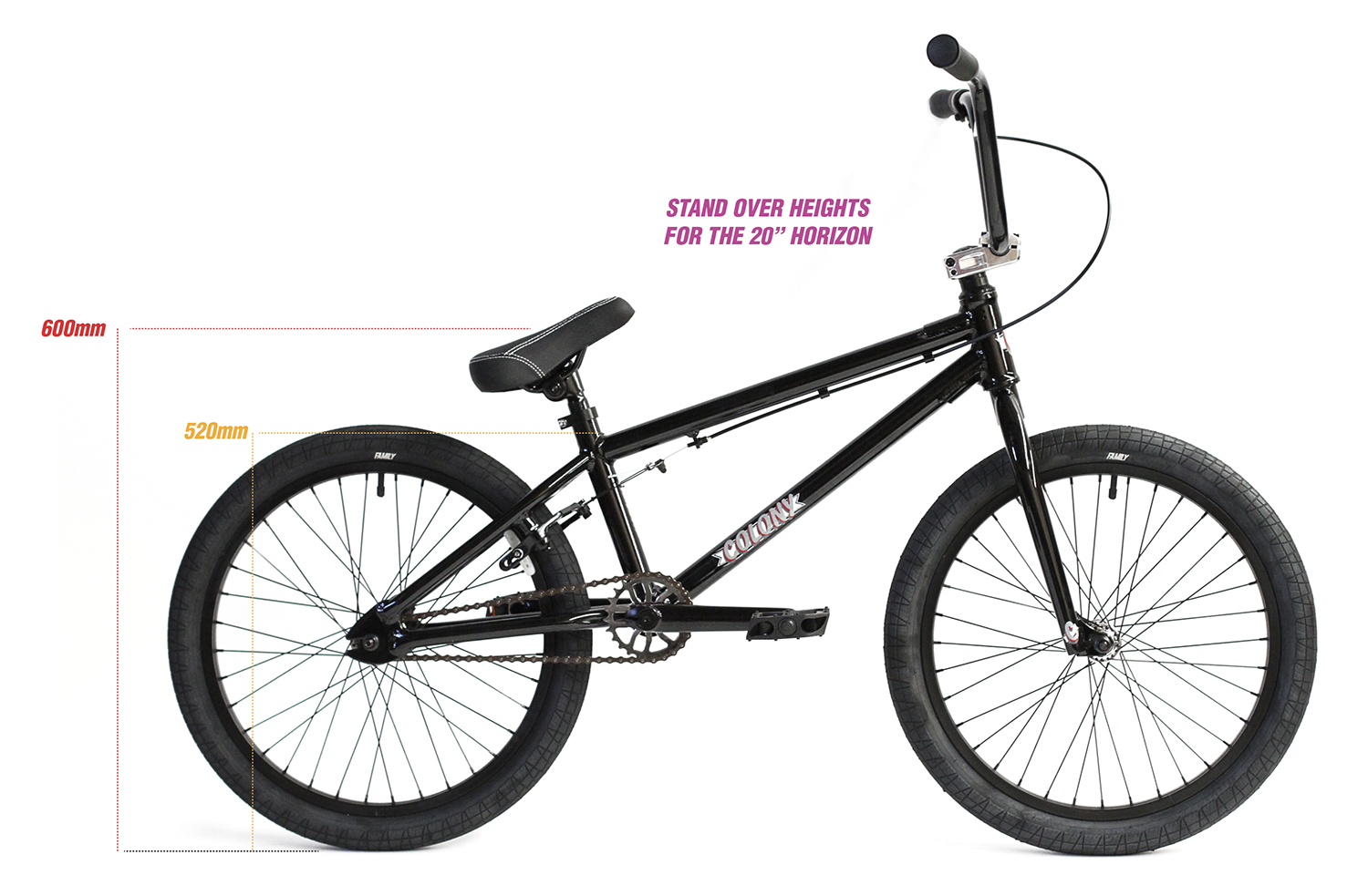 "colony horizon 20"" bike sizing"