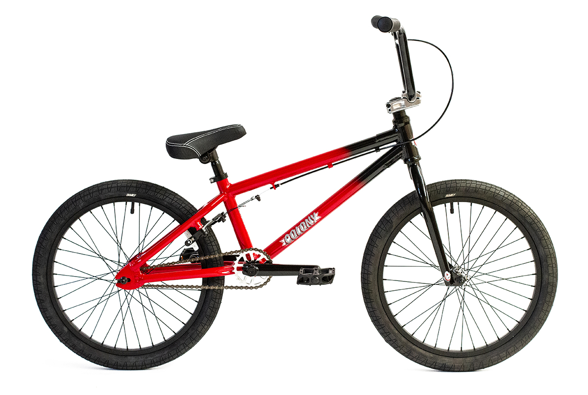 "Colony Horizon 20"" BMX bike Black Red Fade"