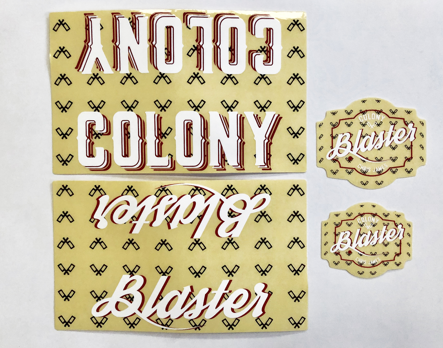 Colony Blaster frame sticker kit