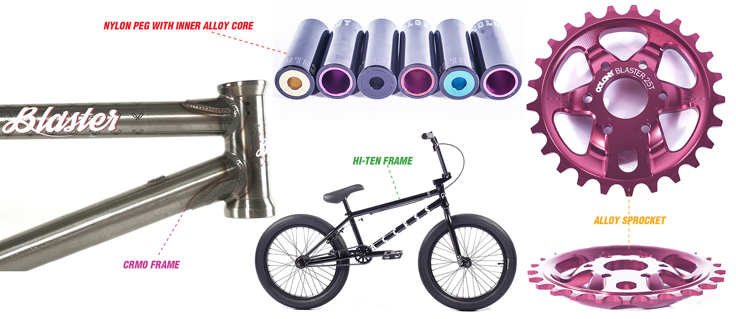 bmx bike materials explained