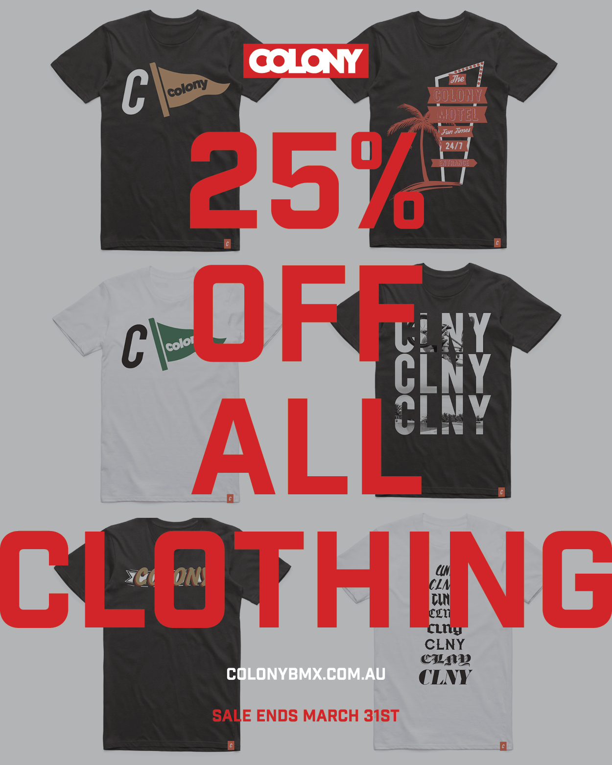 colony bmx clothing sale
