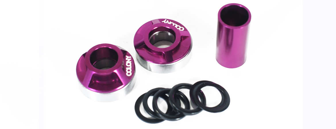 Colony BMX Mid bottom bracket kit Purple