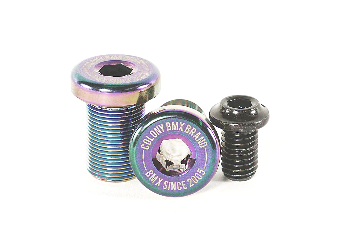Venator Crank Bolts Rainbow Oil Slick